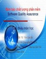 Bài giảng đảm bảo chất lượng phần mềm