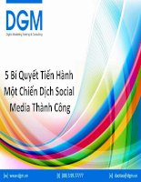 5 bí quyết tiến hành một chiến dịch social media thành công