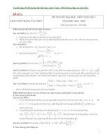 Tuyển tập 20 đề luyện thi đại học môn toán  2014