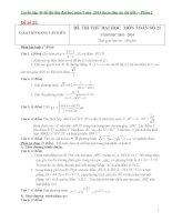 Tuyển tập 40 đề thi thử đại học môn toán  2014 phần 2