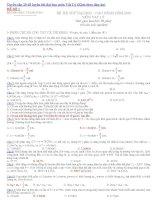 Tuyển tập 20 đề thi thử đại học môn vật lý (kèm theo đáp án)