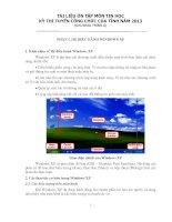 Tài liệu ôn tập tin học công chức tỉnh (chương trình A) (free)