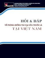 Câu và đáp về phòng chống tác hại của thuốc lá tại Việt Nam