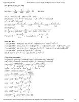 Lý thuyết về các bài toán cực trị trong tam giác
