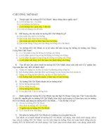 164 CÂU TRẮC NGHIỆM TƯ TƯỞNG HỒ CHÍ MINH ( CÓ ĐÁP ÁN)