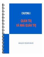 Trọn bộ bài giảng Quản trị học 2014 mới nhất gồm 10 chương