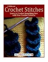 8 different crochet stitches learn to crochet something new with free crochet patterns