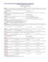 Tuyển tập 30 đề luyện thi đại học môn hóa học (có đáp án)