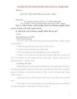 Câu hỏi ôn tập và bài tập lịch sử lớp 12  tài liệu luyện thi đại học