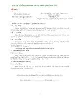 Tuyển tập 25 đề thi thử đại học môn lịch sử (có đáp án chi tiết)
