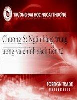 chương 5 - ngân hàng trung ương và chính sách tiền tệ