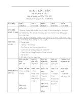 Giáo án lớp lá Chủ đề bản thân tuần 3