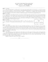 bộ đề thi học sinh giỏi lý lớp 9 lên trường chuyên có đáp án chi tiết