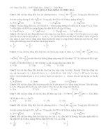 25 câu hỏi trắc nghiệm dao động điều hòa có đáp án