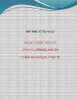 nghiên cứu động lực học cơ cấu sử dụng phần mềm matlab-simulink (cơ cấu bốn khâu bản lề, tay quay con trượt,