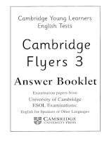 flyers 3 answer booklet