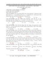 Trích đề thi vật lý theo chuyên đề năm 2007 - 2013