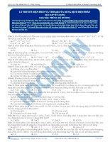 bài tập lý thuyết điện phân và tính pH của dung dịch điện phân