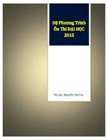 42 hệ phương trình vô tỷ ôn thi ĐẠI HỌC năm 2015