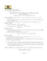 Đề thi khảo sát chất lượng đầu năm học 20142015 lớp 11 môn Toán Trường THPT Thuận Thành