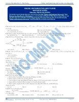 bài tập polyme, chuỗi phản ứng, lipit và este
