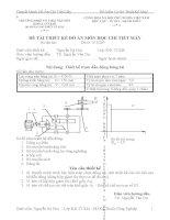 đề tài thiết kế đồ án môn học chi tiết máy thiết kế trạm dẫn động băng tải