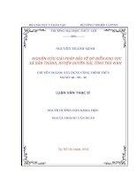 Luận văn Ths NGHIÊN CỨU GIẢI PHÁP BẢO VỆ BỜ BIỂN KHU VỰC  XÃ DÂN THÀNH, HUYỆN DUYÊN HẢI, TỈNH TRÀ VINH
