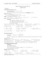 đề cương ôn tập toán học ký ii toán 8