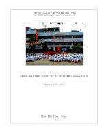 SKKN  dạy học theo chủ đề tích hợp ở trường THCS