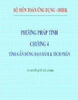 Phương pháp tính :Chương 4:tính gần đúng đạo hàm và tích phân