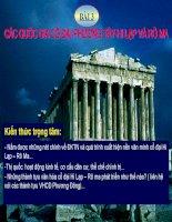 Lịch sử các quốc gia cổ đại phương tây Hi lạp và rô ma (giáo án lịch sử )