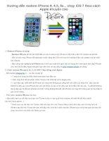 hướng dẫn restore iphone