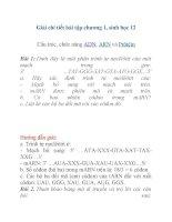 Giải chi tiết bài tập chương 1, sinh học 12