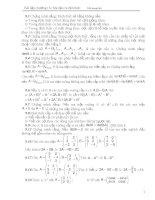 Bài tập ma trận, định thức, vecto có lời giải