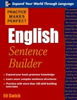 Lý thuyết và bài tập về cách tạo câu trong tiếng anh