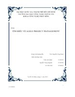 Đề tài tìm hiểu về agile project management