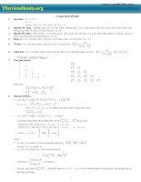 Tổng hợp kiến thức ôn thi đại học môn toán