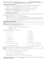 Tài liệu ôn tập thi tốt nghiệp THPT môn toán