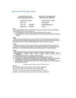 Tổng hợp đề thi và lời giải chi tiết xác suất thống kê