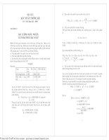 Bài tập xác suất hay có lời giải chi tiết