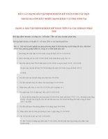 Bài tập định khoản kế toán có lời giải