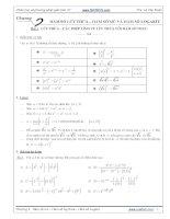 phân loại và phương pháp giải toán 12 chương 2: hàm số lũy thừa, hàm số mũ và hàm số logarit
