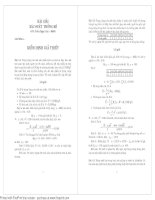 Bài tập kiểm định giả thiết hay có lời giải chi tiết