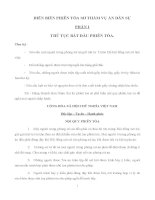 Kịch bản diễn án hồ sơ khởi kiện dân sự Công ty TNHH Công ty Kim Thành và bị đơn Công ty kinh doanh xuất nhập khẩu Thuỷ sản CDV