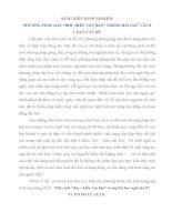 Đề tài phương pháp dạy đọc hiểu văn bản trong bài ngữ văn 8