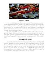 Các loại Sushi của Nhật Bản