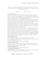 PHƯƠNG PHÁP XÁC ĐỊNH TẦN SỐ HOÁN VỊ GEN VÀ KIỂU LIÊN KẾT CHO CÁC BÀI TOÁN SINH HỌC VÈ PHÉP LAI HAI CẶP TÍNH TRẠNG
