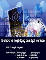 Tiểu luận môn NGN Tổ chức và hoạt động của dịch vụ Viber