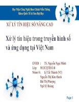 Tiểu luận XỬ LÝ TÍN HIỆU SỐ NÂNG CAO Xử lý tín hiệu trong truyền hình số và ứng dụng tại Việt Nam