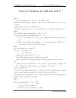 bài tập Mô hình toán kinh tế, có lời giải